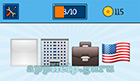 EmojiNation: Emojis White Square, Building, Briefcase, USA Flag  Answer