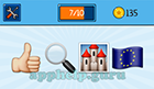 EmojiNation: Emojis Thumbs Up, Magnifying Glass, Castle, Flag  Answer