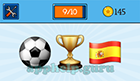 EmojiNation: Emojis Football/Soccer Ball, Trophy, Spanish Flag  Answer