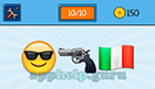 EmojiNation: Emojis Smily Face with Sunglasses, Gun, Italian Flag  Answer