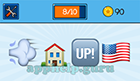EmojiNation: Emojis Wind, House, Up!, USA Flag Answer