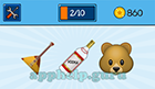 EmojiNation: Emojis eird Guitar, Vodka, Bear  Answer