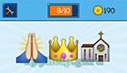 EmojiNation: Emojis Pray, Crown, Church Answer
