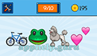EmojiNation: Emojis Bicycle, Frog, Poodle, Love Hearts  Answer