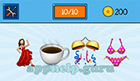 EmojiNation: Emojis Salsa Dancer, Coffee, Streamers, Bikini  Answer