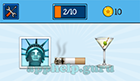 EmojiNation: Emojis Statue of Liberty, Smoke, Cocktail (Martini)  Answer