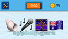 EmojiNation: Emojis Seashell, Microphone, Bridge, Australian Flag  Answer