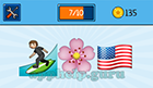 EmojiNation: Emojis Surfer, Flower, USA Flag  Answer