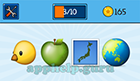 EmojiNation: Emojis Chicken, Apple, Island, World Map (focused on Australia/New Zealand)  Answer