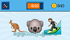 EmojiNation: Emojis Kangaroo, Koala, Surfing  Answer