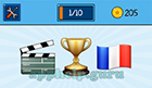 EmojiNation: Emojis Movie Board, Trophy, French Flag  Answer
