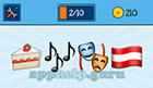 EmojiNation: Emojis Cake, Music Notes, Masks, Flag  Answer