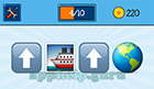 EmojiNation: Emojis Up Arrow, Boat, Up Arrow, World Map (Focused on central America)  Answer