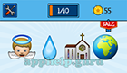 EmojiNation: Emojis Angel, Water Drop, Church, World Map (Focused on Middle East/Africa)  Answer