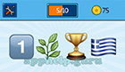 EmojiNation: Emojis One, Leaves, Trophy, Greek Flag  Answer