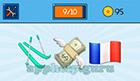 EmojiNation: Emojis Skis, Flying Money, French Flag  Answer